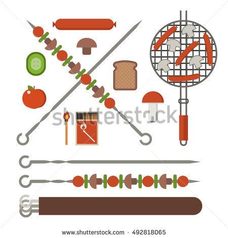 Vegetarian Skewers Stock Photos, Royalty.