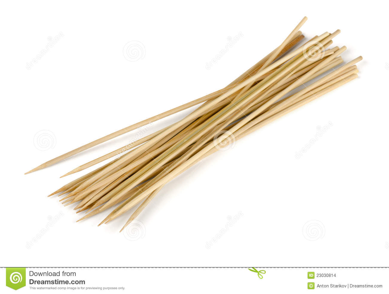 Wooden Skewers Stock Images.