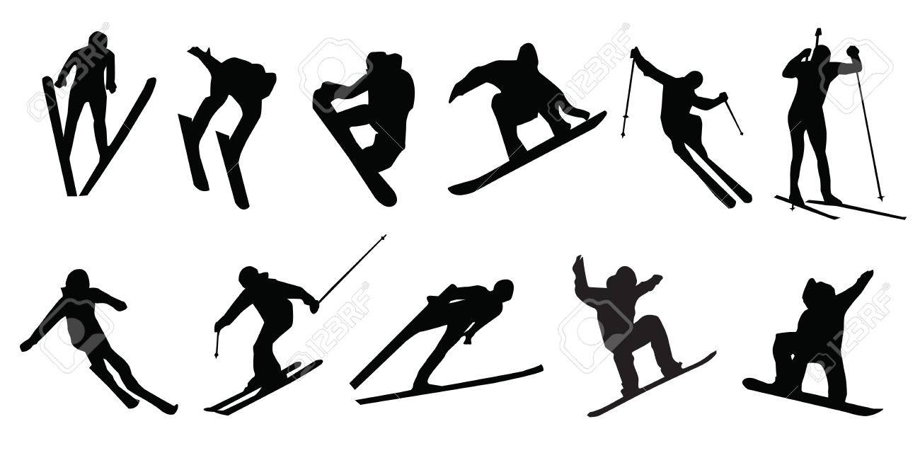 Skiing and snowboarding clipart 2 » Clipart Station.
