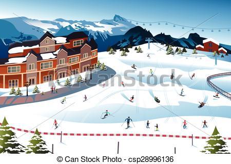 Ski hill clipart #1