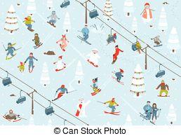 Ski hill clipart #3