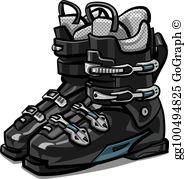 Ski Boots Clip Art.