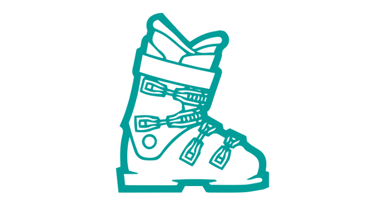 The anatomy of a ski boot.