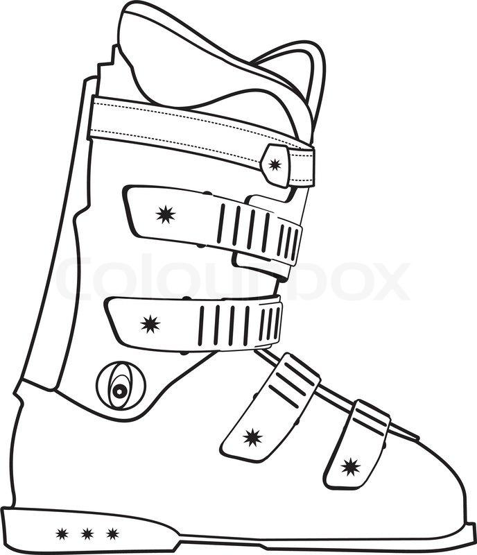 Ski Boots Clipart.