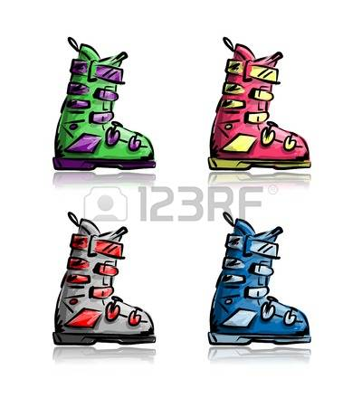1,455 Ski Boots Stock Vector Illustration And Royalty Free Ski.