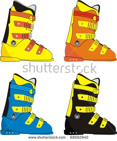 Ski Boots Isolated Stock Photos, Royalty.