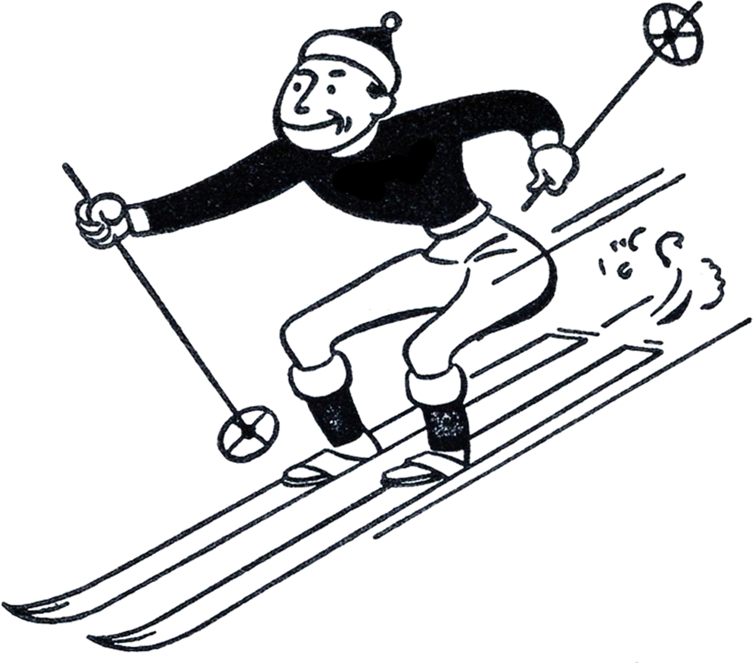 Skiing Free Clipart.
