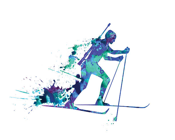 Nordic Skiing Pictures Clip Art, Vector Images & Illustrations.