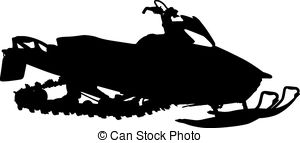 Snowmobile Black And White Clipart.