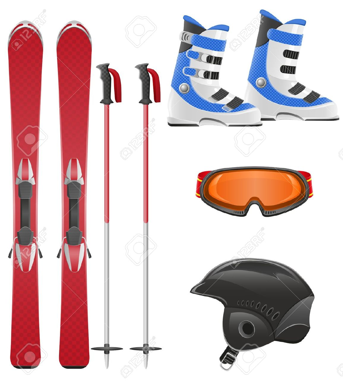 1,519 Ski Boots Stock Vector Illustration And Royalty Free Ski.