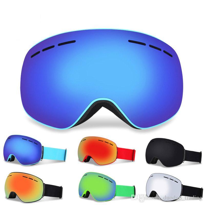 2019 Ski Goggles Men Women Snowboard Goggles Glasses For Skiing Protection  Snow Skiing Glasses Anti Fog Ski Mask Avantgarde Dazzling Color From.