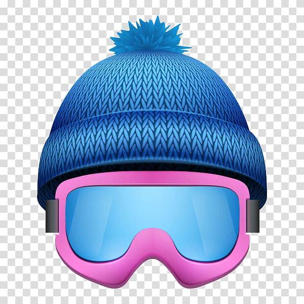 Skiing Goggles illustration Illustration, Blue wool ski cap.