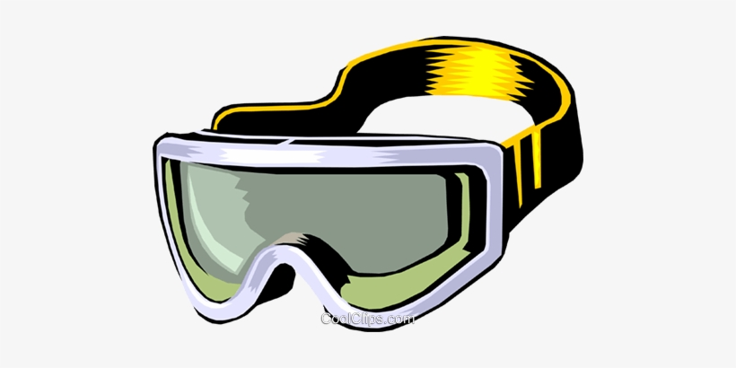 Skiing Goggles Royalty Free Vector Clip Art Illustration.