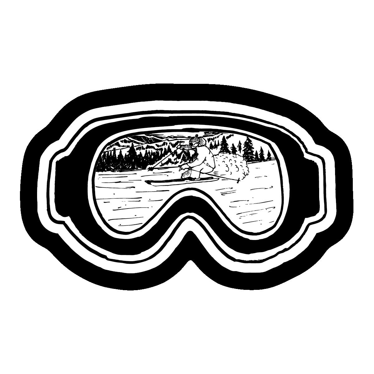 Ski Goggles Sticker.