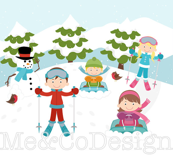 99+ Skiing Clipart.