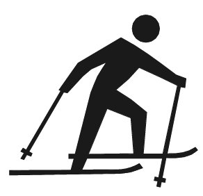 Free cross country skiing clipart graphics images.