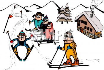 Free Ski Resort Clipart #1.