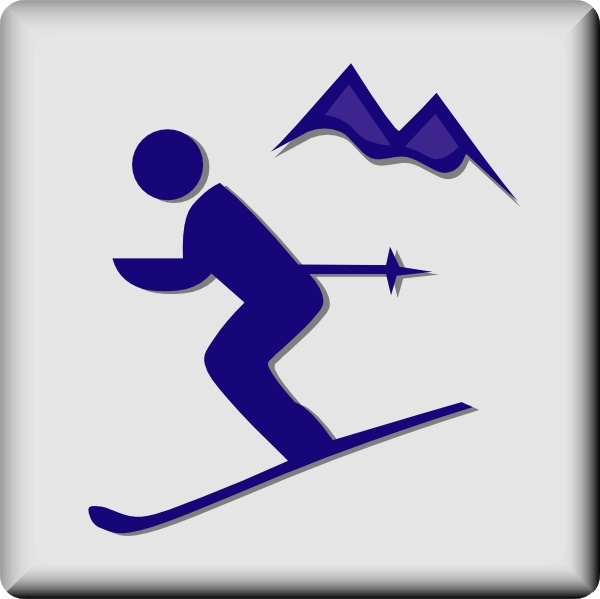 Hotel Icon Ski Area clip art Free vector in Open office.