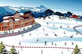 Ski hill clipart #20