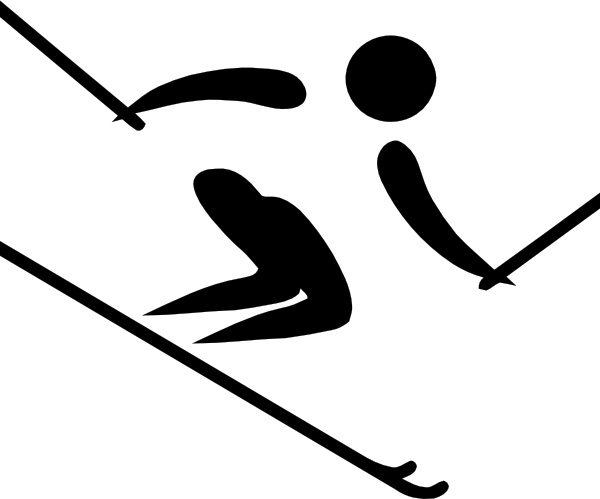Freestyle Skiing Clipart.