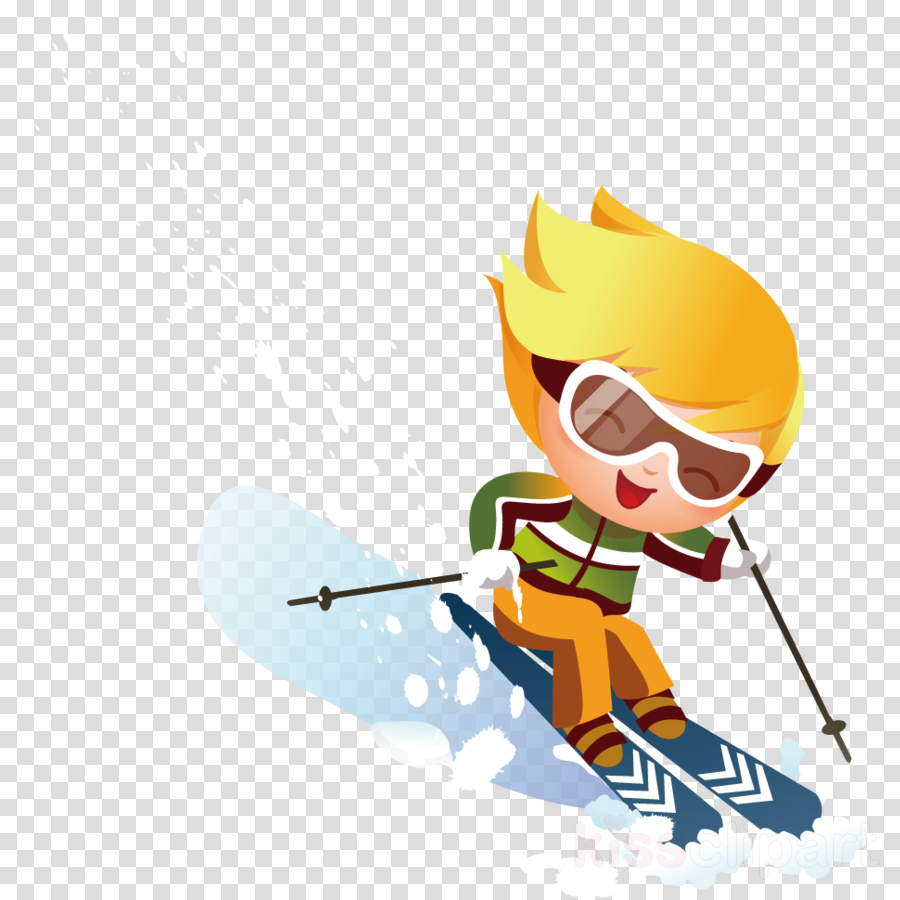 skier cartoon ski alpine skiing skiing clipart.