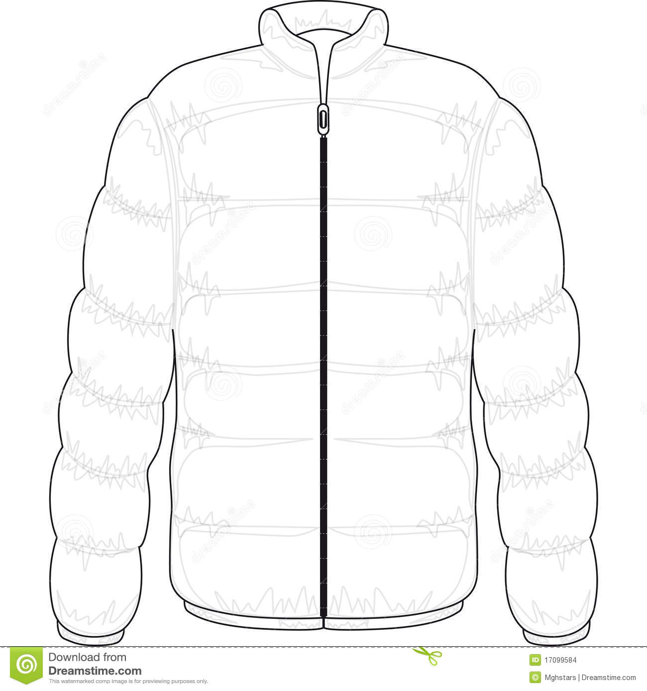 Winter Jacket Stock Images.
