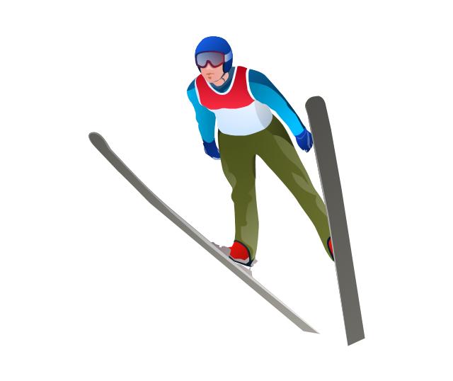 Ski jumping clipart.
