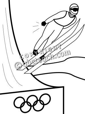 Ski Jump Clipart