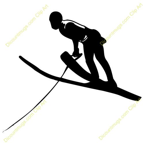 Olympic Ski Jump Clipart.