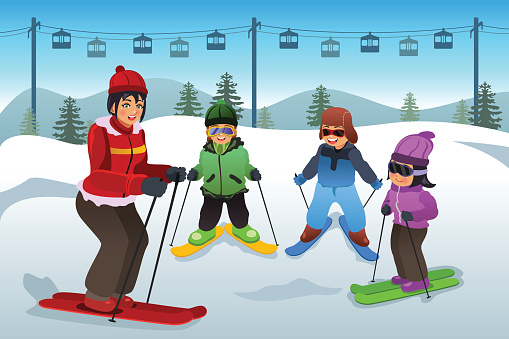 Ski Lessons Clip Art, Vector Images & Illustrations.