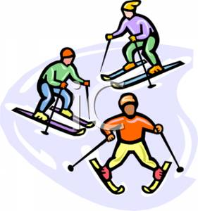 People skiing clipart.