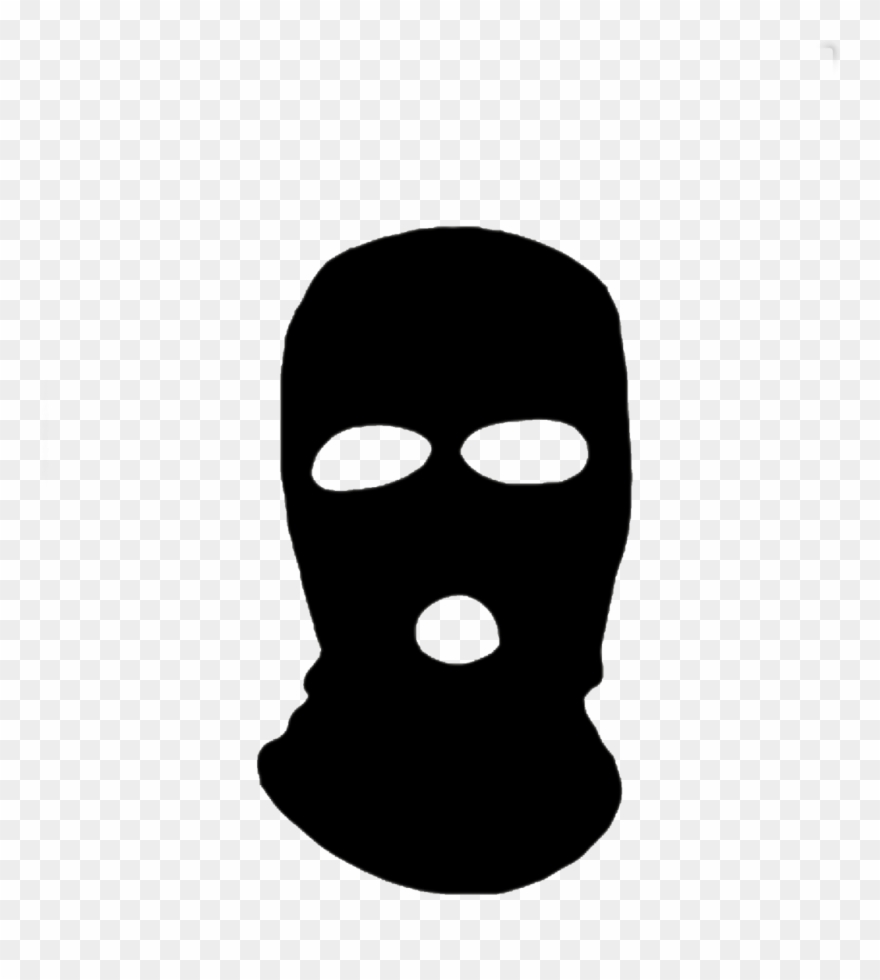 Black Ski Mask Cartoon Clipart (#1093792).