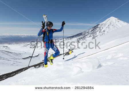 Ski Mountaineering Stock Images, Royalty.