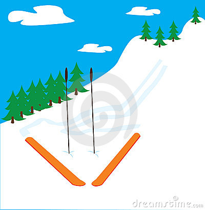 Clip Art Mountain Slope.