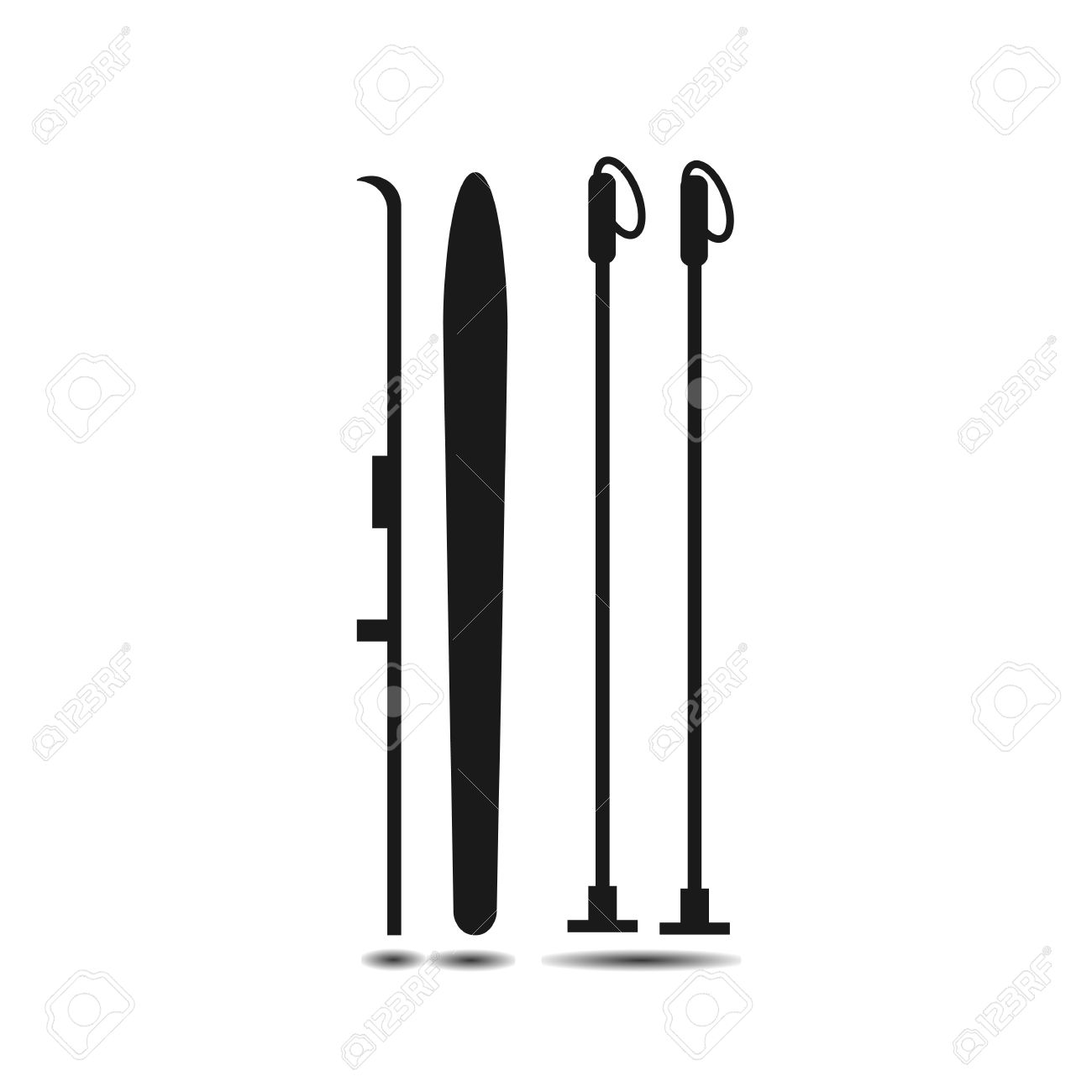 Showing post & media for Ski pole clip art cartoon.