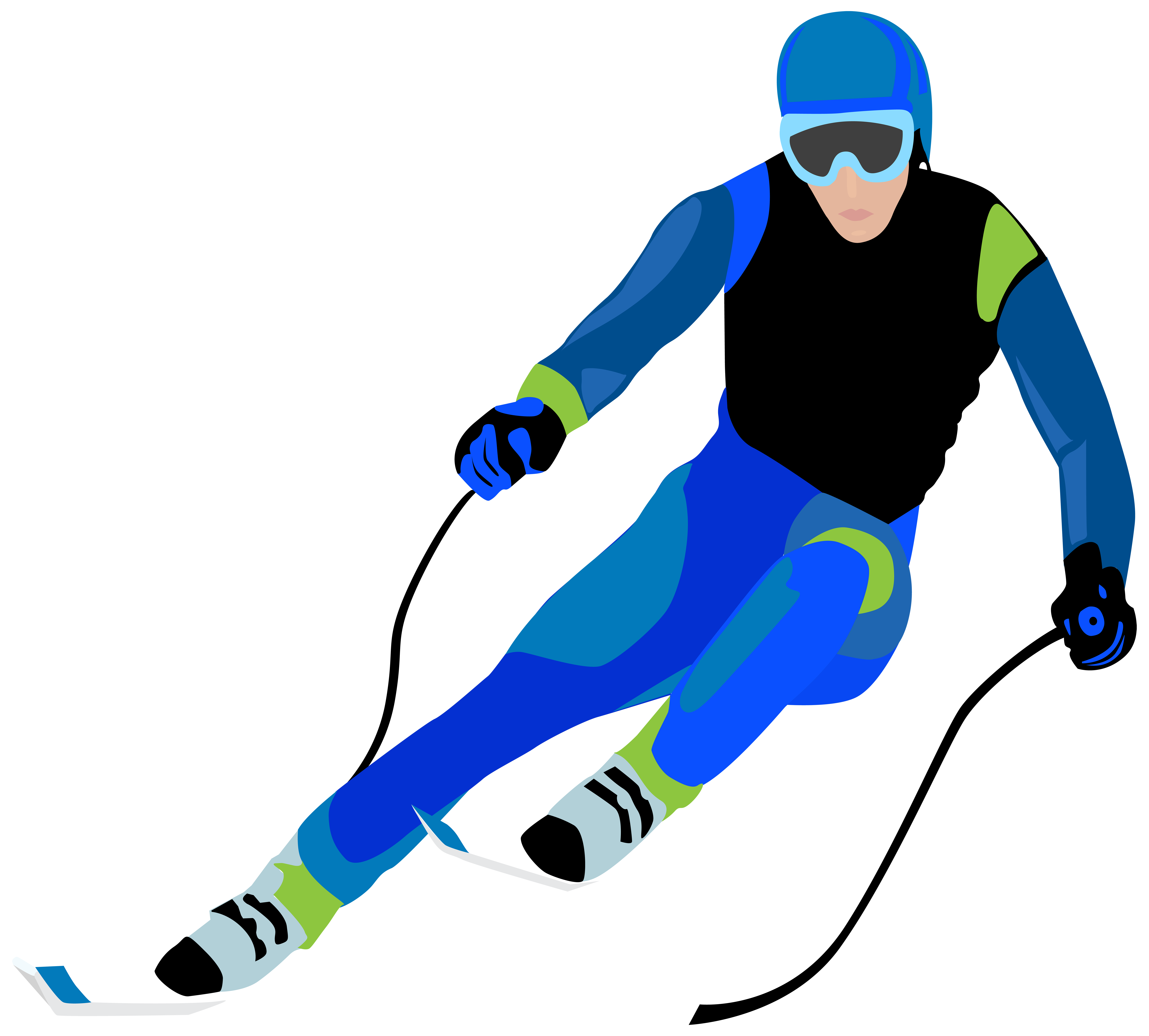 Skier Clip Art Image.