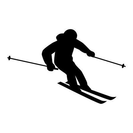 Stylist And Luxury Skier Clip Art.