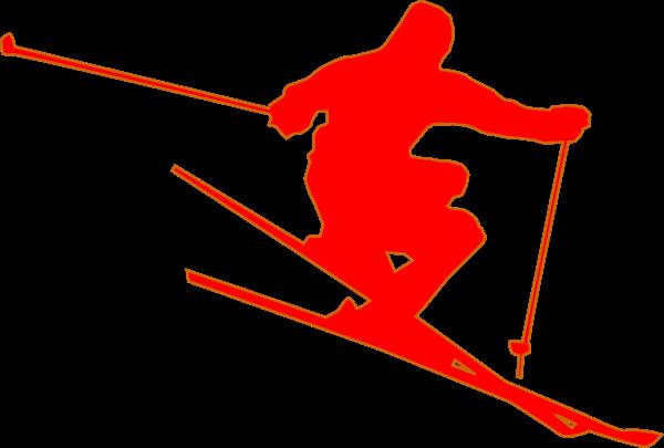 Red Skier Clip Art at Clker.com.