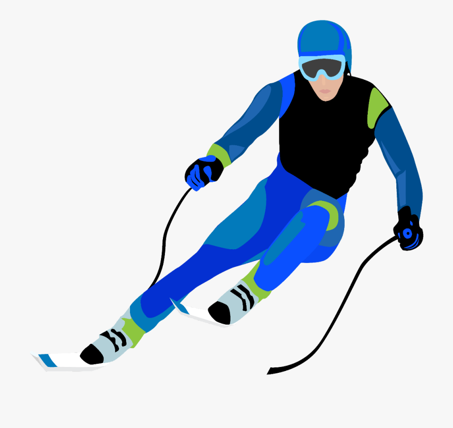 ftestickers #clipart #skier #skiing.