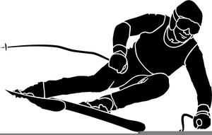 Clipart Skier.