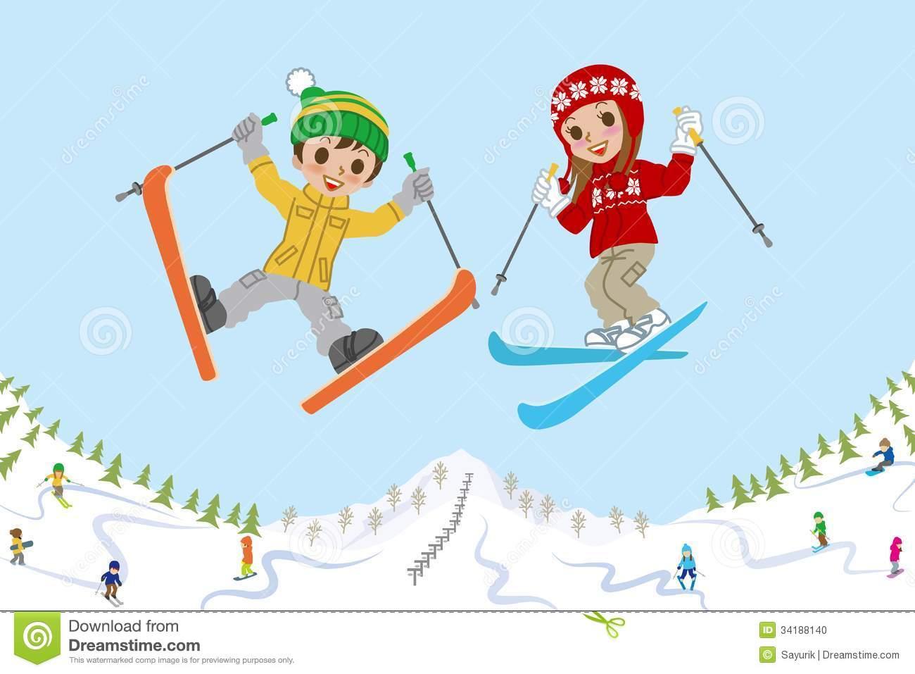 Ski Resort Clipart.