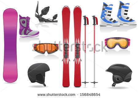 Ski Equipment Stock Photos, Royalty.
