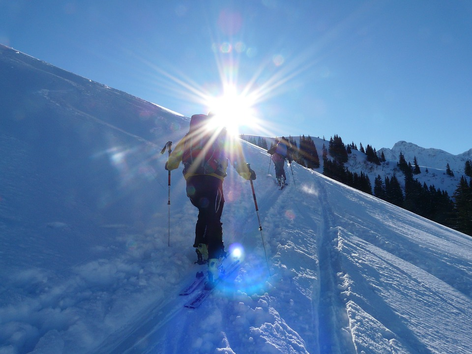 Free photo: Backcountry Skiiing, Winter Hike.