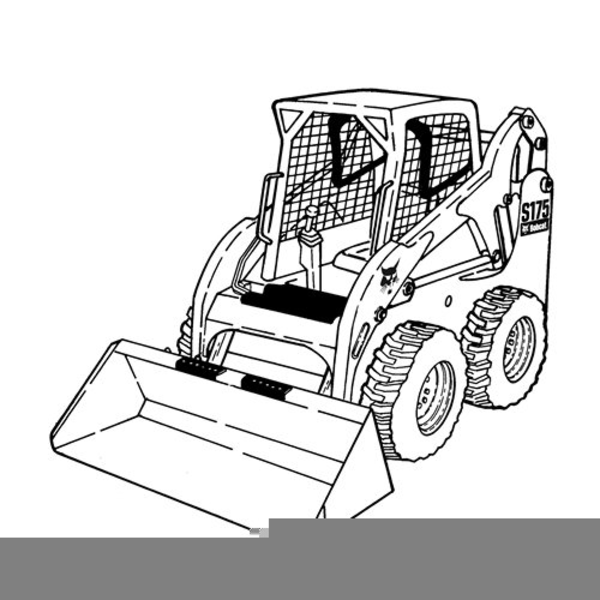 Color Skid Steer Clipart.