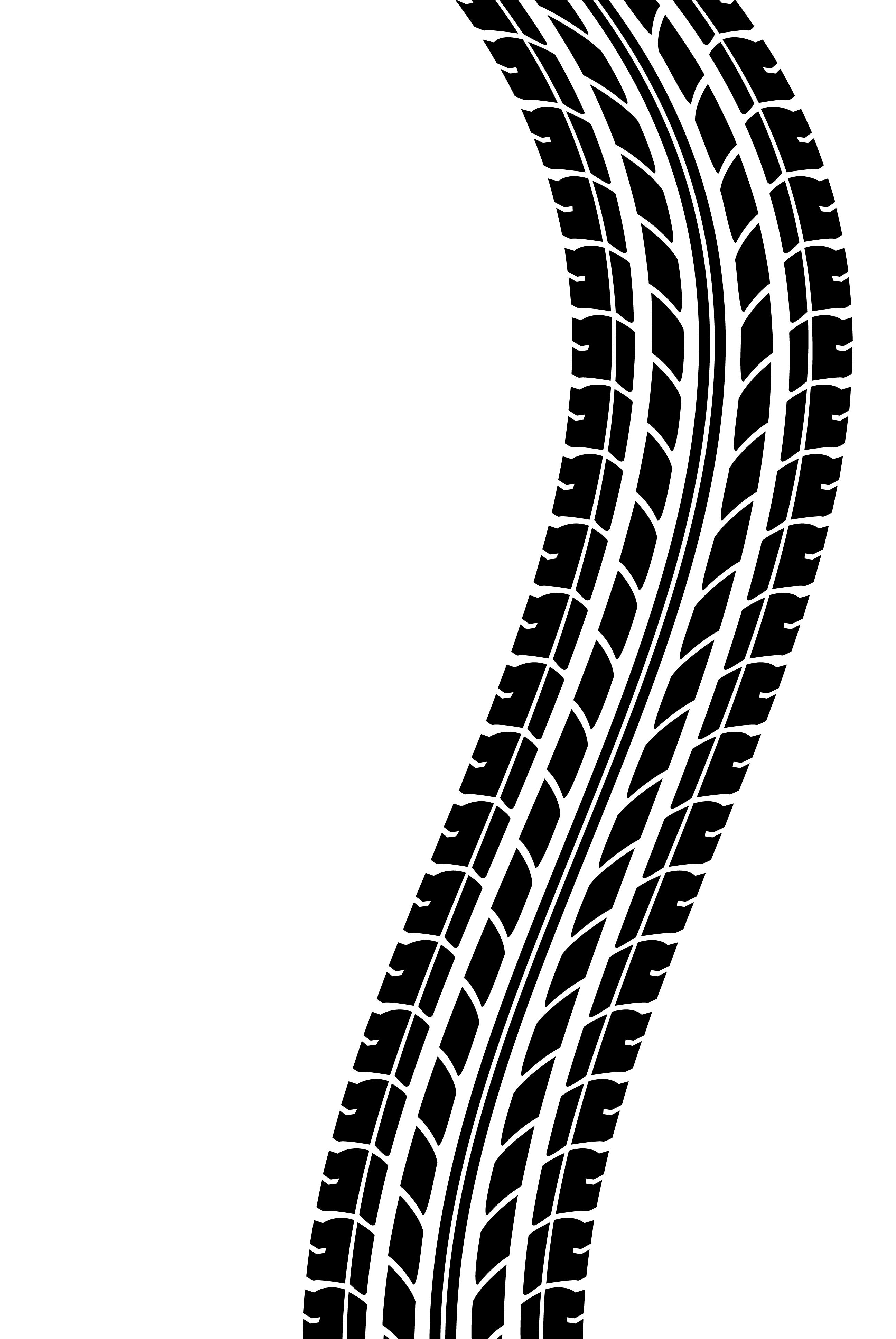 Clipart tire tracks.