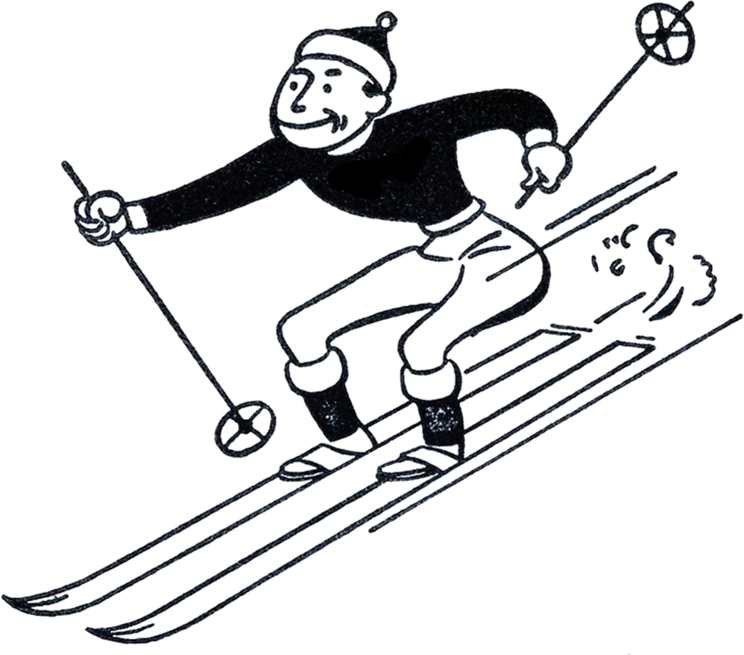 For Clipart Skiing Cartoon BigKAAb4T.
