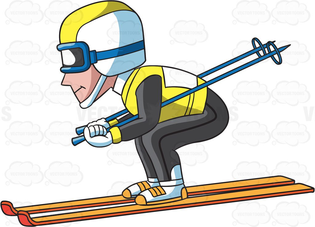 215 Skier free clipart.