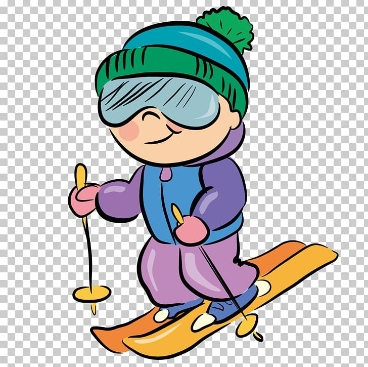 Cartoon Skiing PNG, Clipart, Anime Girl, Area, Art, Artwork.