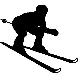 55+ Skier Clip Art.