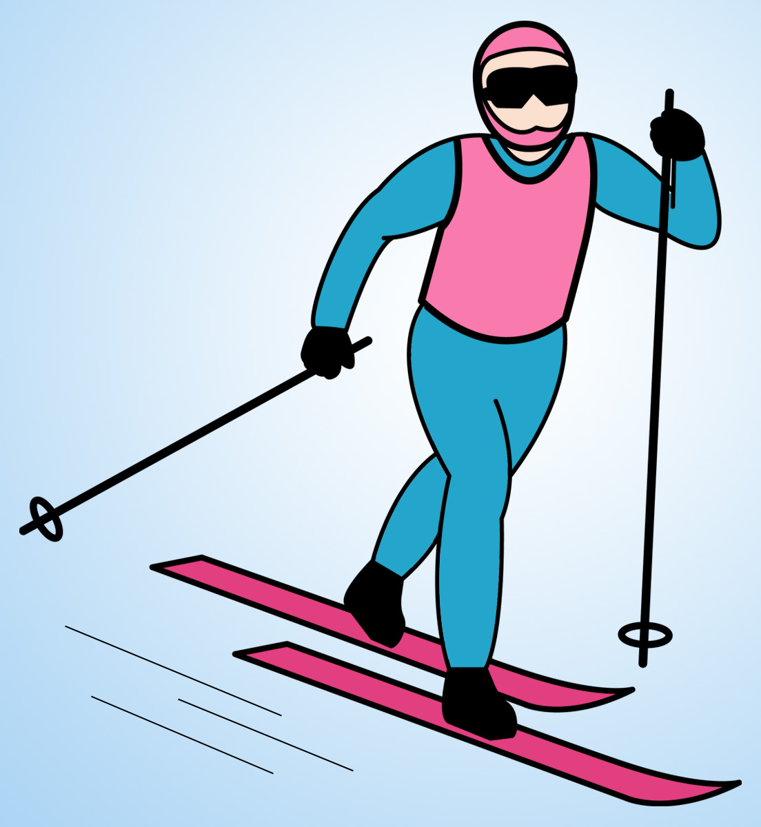 Snow Skiing Background Clipart.